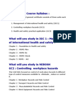NEBOSH IGC Course Syllabus