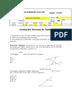 Evaluación Teorema de Thales