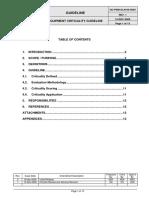 Equipment Criticality Determination Guideline