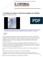 Medidas Para Mejorar La EE de Colombia