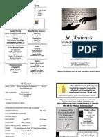 St Andrews Bulletin 0115