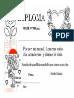 Diploma Dia de La Madre