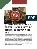 Conexion de AVR's Para Alternadores Caterpillar