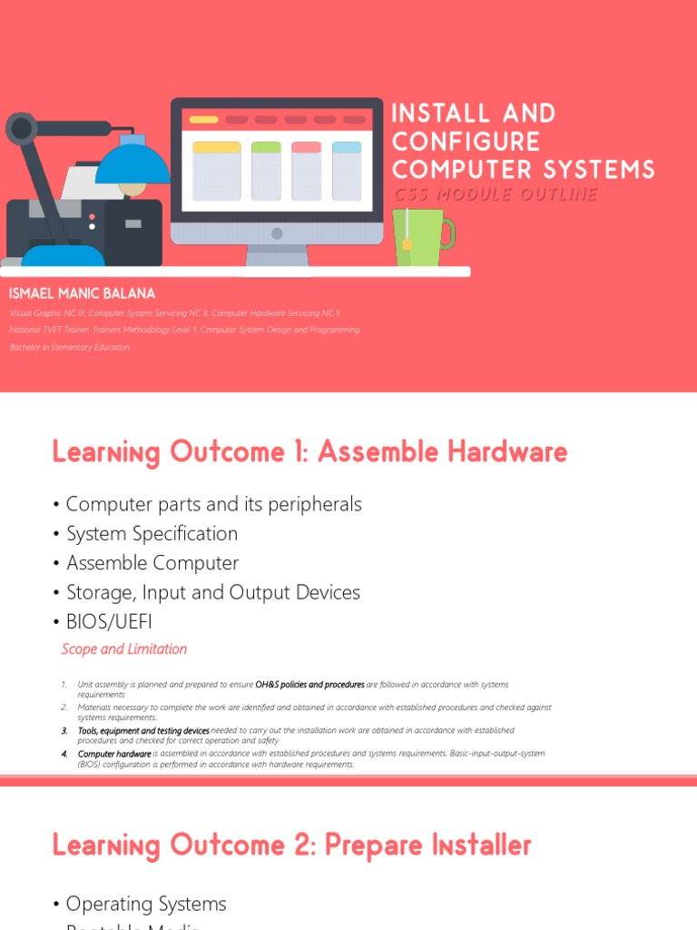 Install And Configure Computer System Installation Computer Programs Operating System