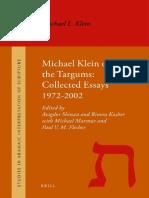 SAIS 011 Shinan, Kasher, Marmur, Flesher [Eds.] - Michael Klein on the Targums_Collected Essays 1972–2002 - 2011.pdf