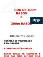Corrida de 200 e 400m Rasos