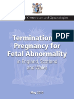 Termination Pregnancy Report 18 May 2010