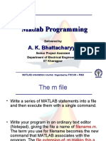 Fundamentals of Matlab Programming