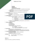 NORMA ISO 27001 Estructura