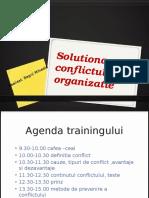 Solutionarea Conflictului in Organizatie