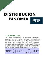 DISTRIBUCION BINOMINAL