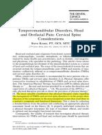 TM Disorders, Head & Orofacial Pain 2