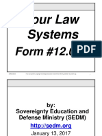 Four Law Systems Course, Form #12.039
