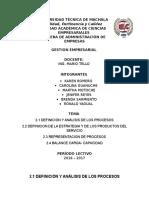 Gestion Por Procesos Informe