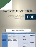Matriz de Consistencia