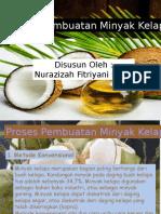 Proses Pembuatan Minyak Kelapa