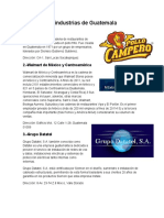 10 Industrias de Guatemala