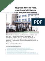 15.01.17 Inauguran Moreno Valle, Narro y Trewartha rehabilitación del Complejo Hospitalario Issstep