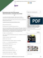 Expressões Para Iniciar Introdução, Desenvolvimento e Conclusão de Um Texto _ Professor Diego Lucas