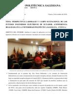 Ministerio de Electricidad_Universidad Politécnica Salesiana sede Cuenca. Autor. Arias, F