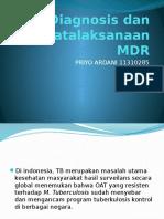 IPD - Diagnosis & Penatalaksanaan MDR
