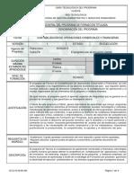 Programa de Formacion Tecnico en Contabilizacion de Operaciones Comerciales y Fras