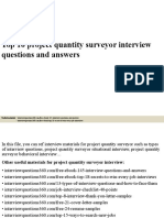 Top10projectquantitysurveyorinterviewquestionsandanswers 150602082214 Lva1 App6891