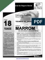 INSS Prova Cargo NM 18 Caderno Marron1
