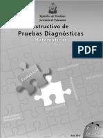 Instructivo Prueba Diagnóstica 7º-11º Matemáticas (2011)