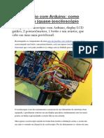 Osciloscópio Com Arduino