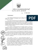 Rvm n 075 2015 Norma Para El Proceso de Contratacion de Personal Docente en Ies Escuelas