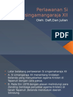 Presentasi Perlawanan Si Singamangaraja XII Julian Dafi