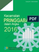 Kecamatan Pringgabaya Dalam Angka 2016