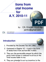 Deductions Under Income Tax India