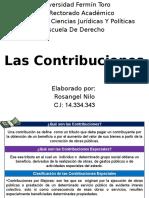 Las Contribuciones
