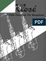 Klose Para Saxofon 25 Ejercicios Diarios