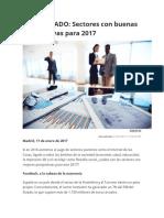 Sectores Con Buenas Perspectivas Para 2017