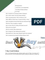 V-Ray Crash Problems