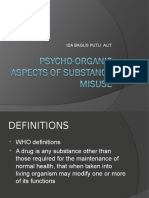 Psycho-Organic Aspects of Substance Misuse