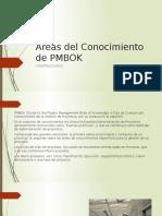 Áreas Del Conocimiento de PMBOK
