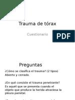 Cuestionario Trauma de Tórax