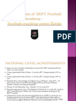 Achievements of SEPT - The Football Academy