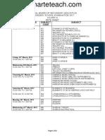 Date Sheet of Class 10 2017 Smarteteach