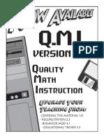 Quality Math Instruction