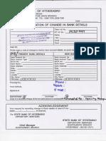 Bank Details Change Form