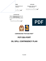 Poti Sea Port Oil Spill Contingency Plan