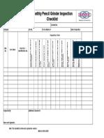 checklist Pencil Grinder
