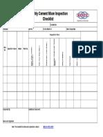 checklist Cement Mixer