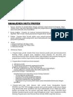 Manajemen Mutu proyek.doc
