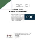 F8916-L Series IP MODEM User Manual V1.0.0